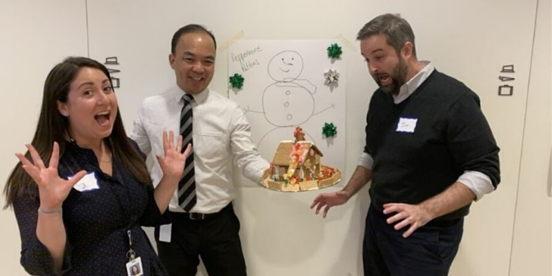 Gingerbread house team building activity
