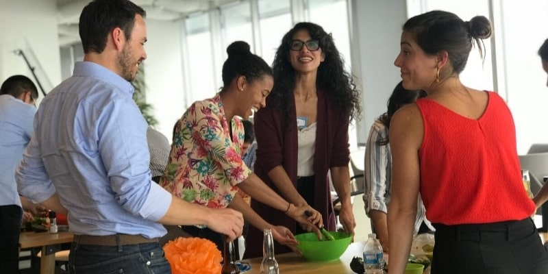 Guacamole making competition as a team event